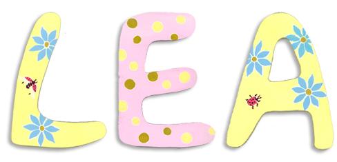 Holzbuchstaben Kinderzimmer